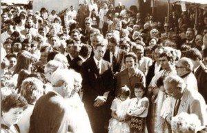 "Regele Mihai, și Regina Ana la ""Sf. Treime"" din Los Angeles"